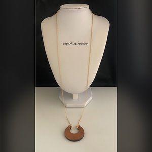 Plunder Kerrington Necklace Wood horseshoe shape